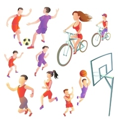 Set of people involved in different kinds sports - vector