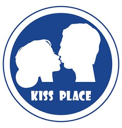 Special place for a kiss vector