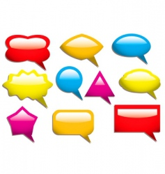 speech bubbles solid vector image vector image