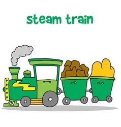 Steam train cartoon design vector