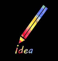 symbol of a pencil vector image vector image