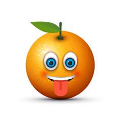 tongue out emoji vector image