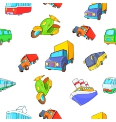 Transport pattern cartoon style vector image