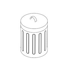 Trash bin icon isometric 3d style vector