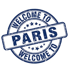 welcome to Paris vector image vector image