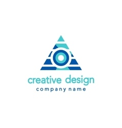 Creative design triangle logo vector