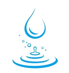 Water droplet and splash vector