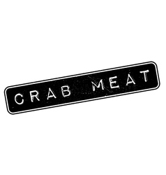 Crab meat rubber stamp vector