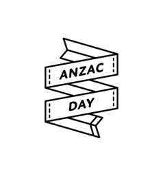 Anzac day isolated greeting emblem vector image