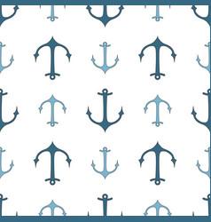 Seamless pattern of marine symbols vector
