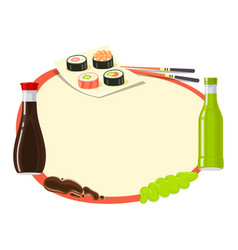 Traditional japanese cuisine asian food vector
