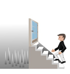 Man walk on stair1 vector