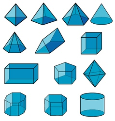 3d geometric for kid vector