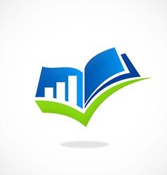 Plan finance book mark logo vector