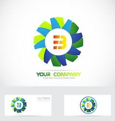 Letter b flower logo vector