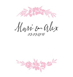 Flower pattern wedding\xc2\xc2birthday handmade vector