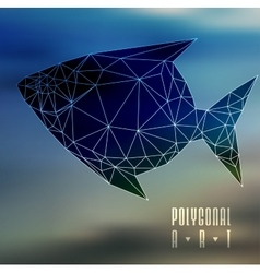 Abstract polygonal fish vector