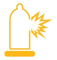 Condom damage icon vector