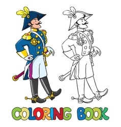 Handsome general or officer coloring book vector