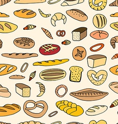 Seamless bread background vector