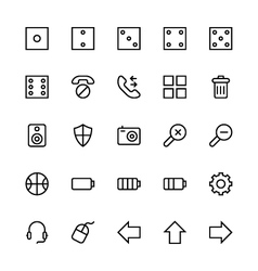 User interface colored line icons 13 vector