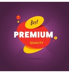 Premium quality flat banner vector