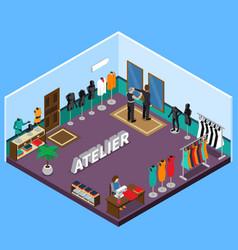 atelier isometric design vector image