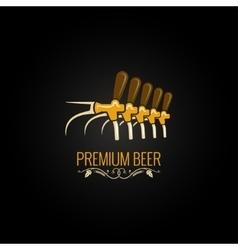 Beer tap vintage ornate design background vector