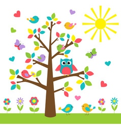 Colorful tree vector image vector image