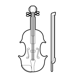 Contrabass icon outline style vector image