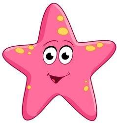 cute cartoon starfish vector image