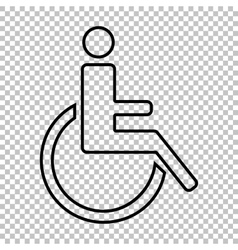 Disabled line icon vector