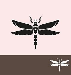 dragonfly symbol vector image vector image