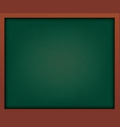 empty green school chalkboard with frame vector image vector image