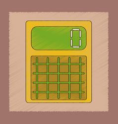 flat shading style icon electronic calculator vector image