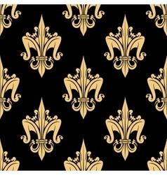 Fleur-de-lis elements seamless pattern vector image