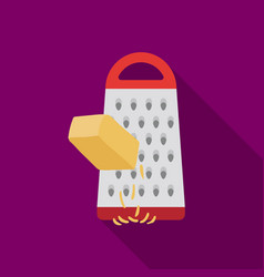 Grating cheese icon in flat style isolated on vector