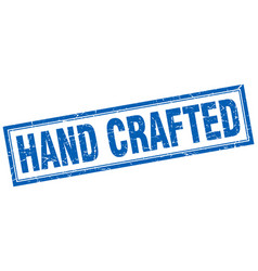 Hand crafted square stamp vector