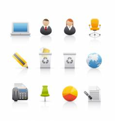 icon set office and business vector image vector image