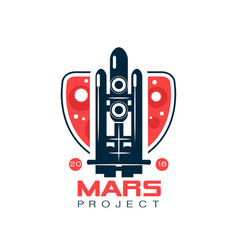 Logo for mars project with abstract image of vector