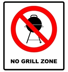 No bbq allowed - ban sign warning banner vector