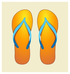 orange flip-flops vector image vector image