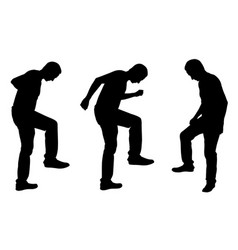 people stepping on things with legs vector image vector image