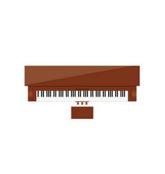 Piano instrument in brown color vector