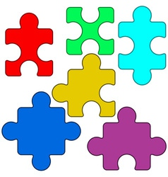 Puzzle vector image vector image