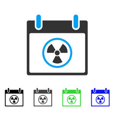 Radioactive calendar day flat icon vector