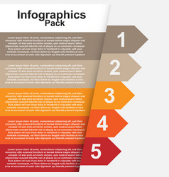 Ribbon infographics image vector