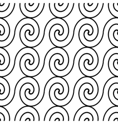 seamless pattern monochrome wave vector image vector image