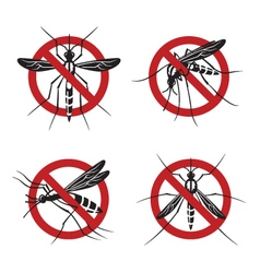 Set of mosquito sign vector