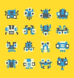 set of simple minimal flat robot characters vector image vector image